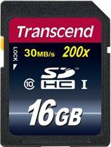 Transcend Premium SD kaart 16GB - Class 10