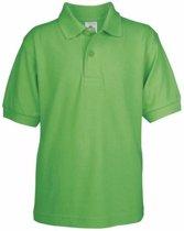 Poloshirt groen voor kinderen Casual Modern S (110-116)