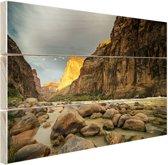 FotoCadeau.nl - Colorado River Grand Canyon Hout 120x80 cm - Foto print op Hout (Wanddecoratie)