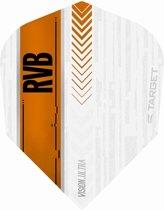 Target Ultra Raymond van Barneveld No6. White Orange  Set à 3 stuks