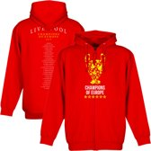 Liverpool Trophy Champions of Europe Squad 2019 Zipped Hoodie - Rood - M