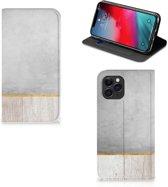 iPhone 11 Pro Book Wallet Case Wood Concrete