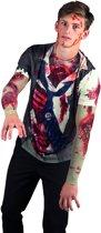 Fotorealistisch shirt Zombie (M)