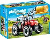 PLAYMOBIL Grote rode tractor met werktuigen  - 6867