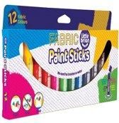 Sticks met textielverf  (12 stuks per verpakking)