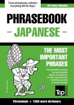 English-Japanese phrasebook and 1500-word dictionary