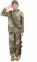 Soldaten kostuum voor jongens - Verkleedkleding - Maat 122/134