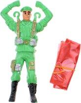 Toi-toys Parachutespringer Soldaat Groen 11 Cm