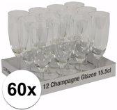 Champagne glazen 60 stuks