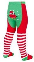 kerst baby maillot groen en pinguin afbeelding - anti slip maat 12-18 mnd