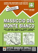 IGC Italien 1 : 50 000 Wanderkarte 04 Monte Bianco