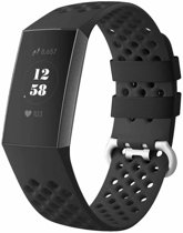 123Watches.nl Fitbit charge 3 sport point band - zwart - ML