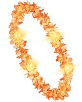 Hawaii Krans met Verlichting Oranje