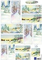 Hobby wenskaartenpakket - Marianne Design decoupage x1 Tiny's winter world 2 - 10 stuk