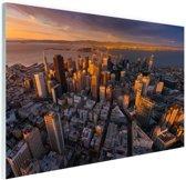 Luchtfoto San Francisco Glas 30x20 cm - Foto print op Glas (Plexiglas wanddecoratie)