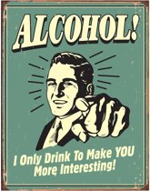 Metalen Retro Bord Alcohol