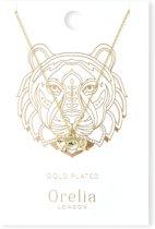 Orelia ketting kort met tijger goudkleurig