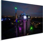 Verlichting in de nacht in Duisburg Plexiglas 90x60 cm - Foto print op Glas (Plexiglas wanddecoratie)