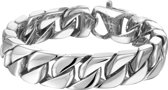 The Jewelry Collection Armband Gourmet 14,3 mm - Staal