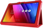 Javu - Asus ZenPad 10 Hoes - Book Cover Lychee Rood