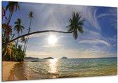 Canvas schilderij Natuur | Wit, Geel, Blauw | 120x70cm 1Luik