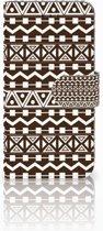 iPhone X | Xs Bookcase met ruimte voor pasjes Aztec Brown