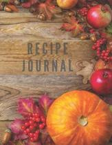 Recipe Journal: Notebook For Recipes To Write In, Blank Cookery Book Organizer For Recipes, Large (8.5 x 11)