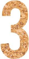 Kleefcijfers - plakcijfer - prikbord - duurzaam - kurk - 1 - 58 cm hoog