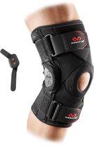 McDavid 429X Kniebrace - Polycentrische scharnieren - Gekruiste Straps - Elastische Bandage Blessures - Knie Strap - Knie Band - Patella Support - Zwart  Large