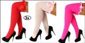3x Britney kousen met strik rood, fluor pink en babyrose
