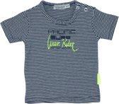 Dirkje Babywear T-shirt - Navy Stripe - Maat 74