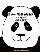 Divine Panda Buddha Coloring Book Black & White