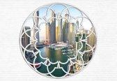 Fotobehang Dubai City Skyline Marina Window | XXL - 312cm x 219cm | 130g/m2 Vlies