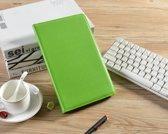 H.K. Draaibaar/Boekhoesje hoesje groen geschikt voor Samsung Galaxy Tab A 2019 (T510) + Glasfolie en stylus pen