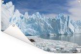 Grote valleigletsjer in Santa Cruz in het Nationaal park Los Glaciares Tuinposter 90x60 cm - Tuindoek / Buitencanvas / Schilderijen voor buiten (tuin decoratie)