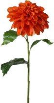 Viv! Home Luxuries Dahlia groot - zijden bloem - oranje - topkwaliteit