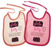 Ajax baby 2-pack slabbetje - roze