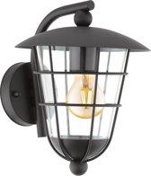 EGLO Vintage Pulfero - Buitenverlichting - Wandlamp - 1 Lichts - Zwart