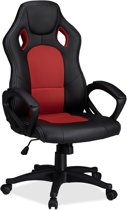 relaxdays Gaming stoel XR9, PC gamestoel, gamer bureaustoel, belastbare Racing stoel rood