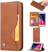 PU Leren Wallet case - iPhone 6(s)/7/8 Plus - Card Set - Bruin.