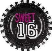 48 stuks: Set a 6 Bordjes - Sweet 16 - 23cm