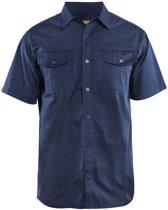 Blåkläder 3296-1190 Overhemd korte mouw Marineblauw maat XXXL