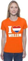 Oranje I love Willem shirt dames XS
