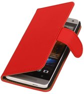 Wicked Narwal   bookstyle / book case/ wallet case Hoes voor HTC One mini M4 Rood