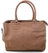 Double Dutch Hand/Schoudertas Trendy  Fashion Tas- Taupe