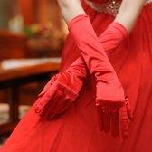 Gala / Feest handschoenen rood effen 48cm