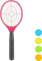 relaxdays elektrische vliegenmepper - tegen muggen   vliegen - vliegen mepper elektrisch rood