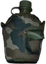 Veldfles leger met Camouflage hoes nieuw