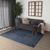 Vintage vloerkleed Joy de Vivre -Pixel blauw/grijs 160x230 cm