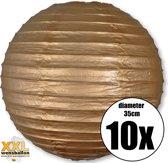 10 gouden lampionnen met een diameter van 35cm